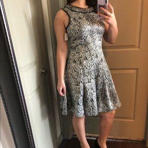 Pink Tartan Knee Length Dress